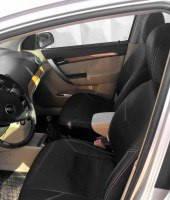 Авточехлы из экокожи S-LINE для салона Fiat 500 '08- (AVTO-MANIA)