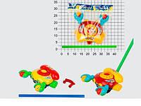 Каталка крабик, 2 цвета, в кульке (Каталка 356 (60/2) крабик,)