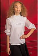 "Нарядная школьная  блуза ""Розочки"""