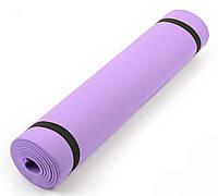 Детский коврик (каремат) для занятий спортом \ йога мат  6 мм, 50х150 см