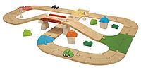 """Деревянная игрушка """"Автомобильная дорога"""", Plan Toys"""