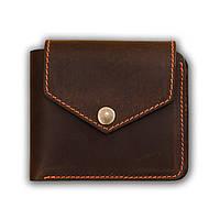 Женское портмоне на кнопке BlankNote 4.2 (Орех-Апельсин)
