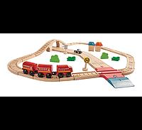 Автомобильная и железная дорога Plan Тoys
