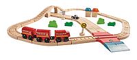 """Деревянная игрушка """"Автомобильная и железная дорога"""", Plan Toys"""