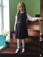 Школьный сарафан для маленьких принцесс. Жаккард. Разные цвета. ШС - 02