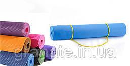 Коврик (каремат) для фитнеса\ йога мат 6 мм. ТРЕ Eco, 183х61 см