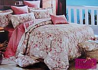 Двуспальное евро постельное белье Египетский хлопок 411010