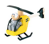 """Деревянная игрушка """"Вертолёт с пилотом"""", PlanToys"""