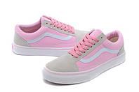 """Кеды женские Vans Old Skool Pink """"Серые с розовым"""" р. 4.5-7.5 (36-40), фото 1"""