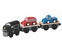 """Деревянная игрушка """"Поезд-автовоз"""", PlanToys"""
