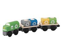 """Деревянная игрушка """"Поезд-мусоровоз"""", PlanToys"""