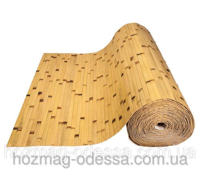 Бамбуковые обои березка желтые, ширина 200 см.