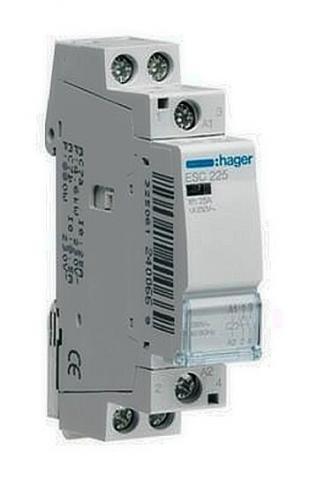 Контактор пускатель Hager ESC227, 25A, 230В, 1НО+1НЗ