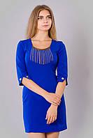 Женское платье синего цвета