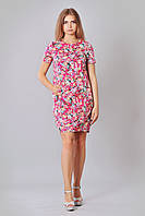 Розовое платье в модный мелкий цветочек