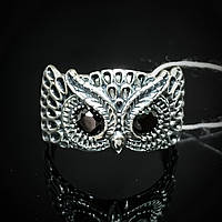 """Серебряное кольцо """"Сова"""" со вставками из фианита, р18,5"""