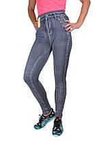 Лосины бесшовные под джинс р. 46-54 (A845)   6 пар, фото 2