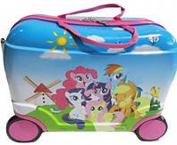 """Детский чемодан-каталка на 4-х колесах """"Пони"""" 42х20х30 см"""