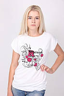 Белая футболка с надписями, фото 1