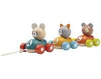 Каталка Plan Тoys - Поезд с животными
