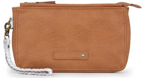 """Креативный чехол-клатч 6,4"""" с плетеным ремешком Golla Air Wristlet Delux Fudge G1630 коричневый"""