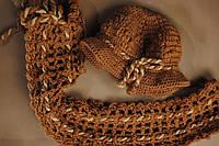 Комплект шапка+шарф, крупная вязка