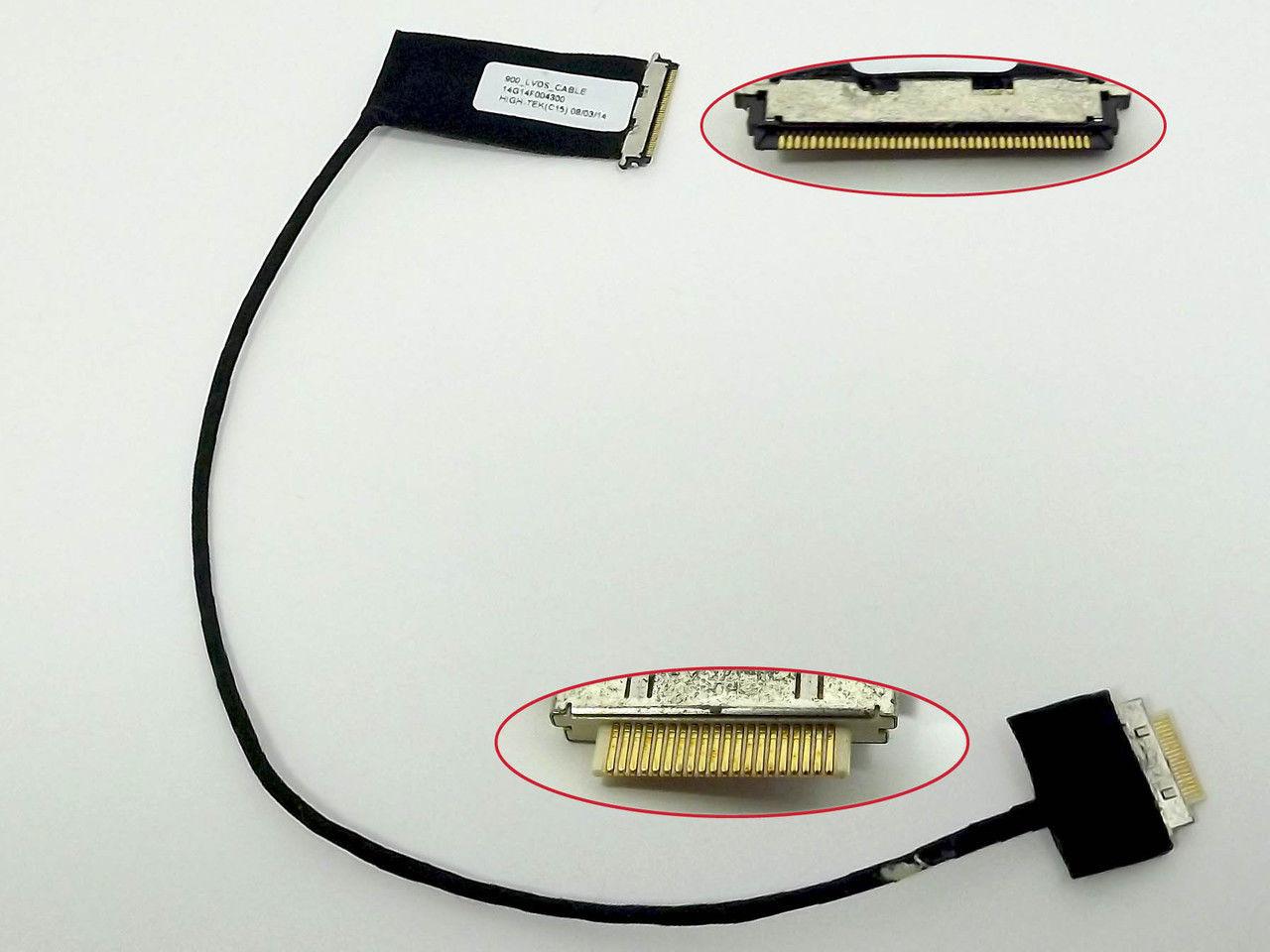 Шлейф матрицы ноутбука Asus X551CA Lcd Video cable Lvds 40PIN C разъемом под камеру. 14005-01070400