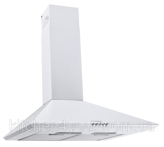 Pyramida Basic casa 60-K white (600 мм.) купольная кухонная вытяжка, с декоративным кожухом, белая эмаль