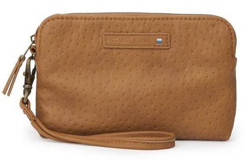 """Выразительный чехол-клатч 5,5"""" для леди Golla Air Wristlet Fudge G1633 коричневый"""