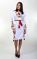 Нарядное женское вышитое платье Диана на длинный рукав