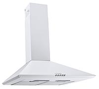 Pyramida Basic Сasa 50-K white (500 мм.) купольная кухонная вытяжка, с декоративным кожухом, белая эмаль, фото 1