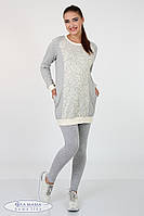 Лосины для беременных Kaily new 12.36.033, из хлопкового трикотажа, серый меланж, фото 1