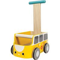 Каталка фургон желтая Plan Тoys