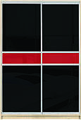 "Шафа-купе ""СТАНДАРТ 1"" з фасадом 111/111 черн./красн."