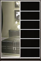 """Шафа-купе """"СТАНДАРТ 1"""" з фасадом 6/27 зеркало+венге"""