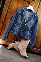 Стильный женский джинсовый пиджак