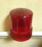 Плафон-линза пластиковая красный на предупреждающие маячки 502 серии TM AYFAR