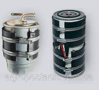 Подогреватель топливного фильтра бандажный (с кнопкой) ПБ-106, 24 В