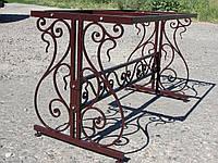 Садовый набор стол кованый + 2 лавки