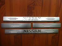 Накладки на пороги Nissan-X-Trail