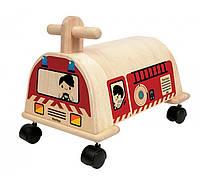 Деревянная качалка Plan Тoys - Пожарная машина