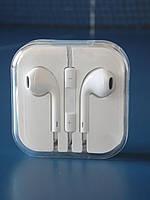 Наушники Apple Iphone с микрофоном белые