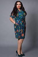 Очень красивое платье прямого покроя с карманами