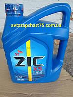 Масло моторное Zic X5  10W-40 4 литра полусинтетика (Южная Корея)