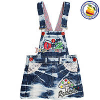 Детские джинсовые сарафаны от 2 до 5 лет (4531)