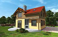 Sip Двухэтажный дом из сип панелей «Честер» 114,6 м2  под ключ