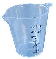 "Кружка мірна пластикова «Еталон» 0,25 л ""Горизонт"" + Відеоогляд, фото 1"