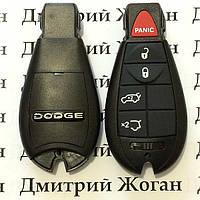 Смарт ключ для Dodge (Додж) 4 кнопки + 1 (panic), чип PCF7941, 315/433 MHz