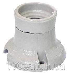 Патрон керамический Е27 настенный фланцевый фарфоровый ФПК-04