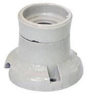 Патрон керамический Е27 настенный фланцевый фарфоровый ФПК-0,4